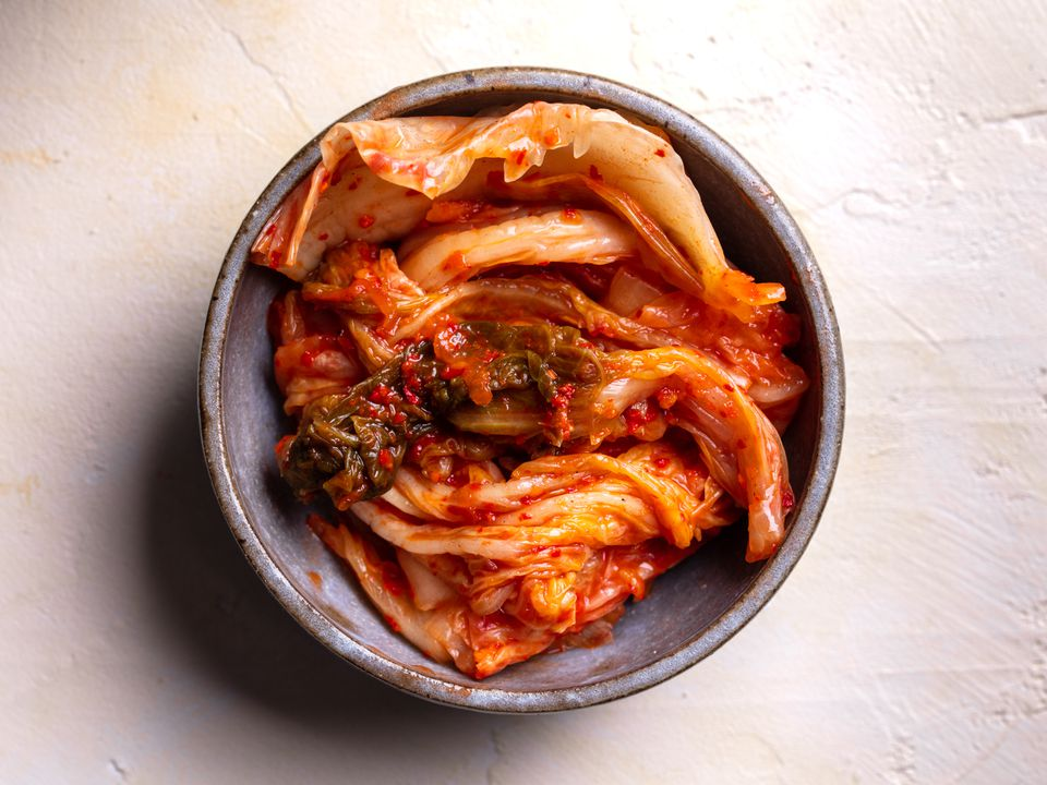 a serving of Beachu kimchi in a small bowl