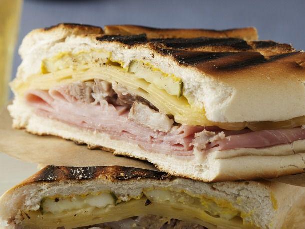 A grilled Cuban sandwich