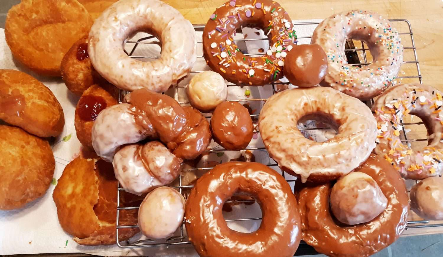 Pile of delicious-looking donuts