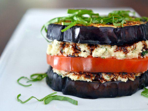 """Eggplant """"Ricotta"""" Stacks"""