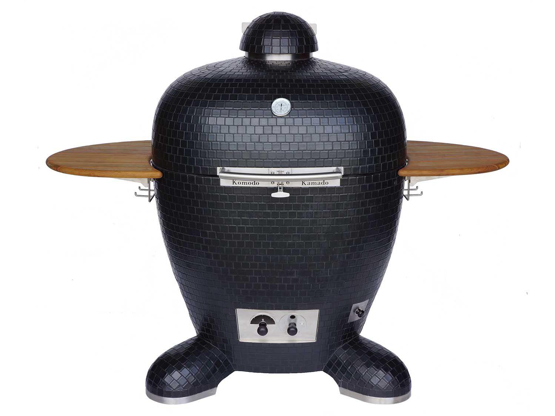 The Komodo Kamado Big Bad 32, a large kamado-style cooker with an inlaid-tile finish