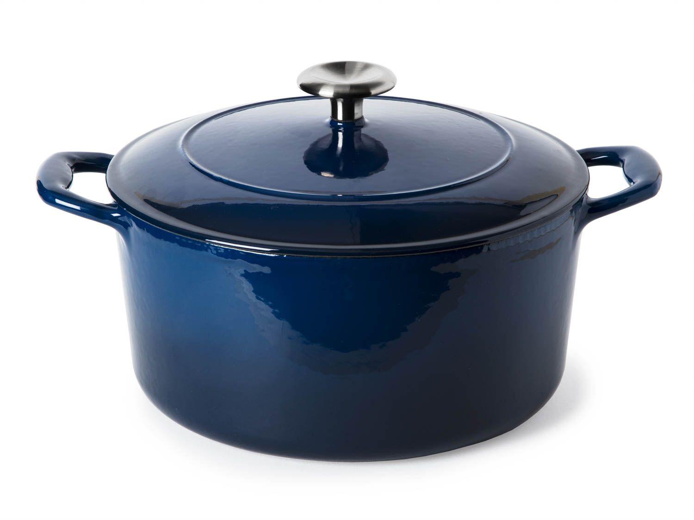 Photo of blue Tramontina Dutch oven
