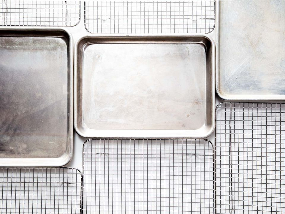 rimmed baking sheets and cooling racks