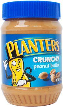 A jar of Planters Crunchy Peanut Butter