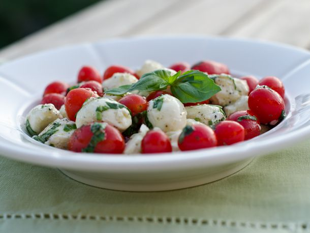 Marinated Mozzarella, Cherry Tomato and Basil Salad