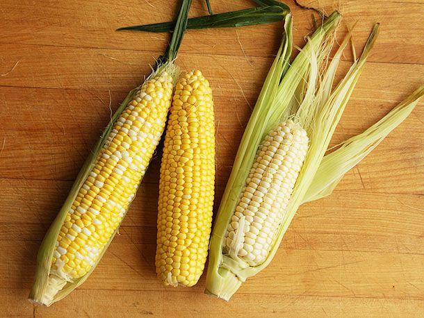 Three corn varieties