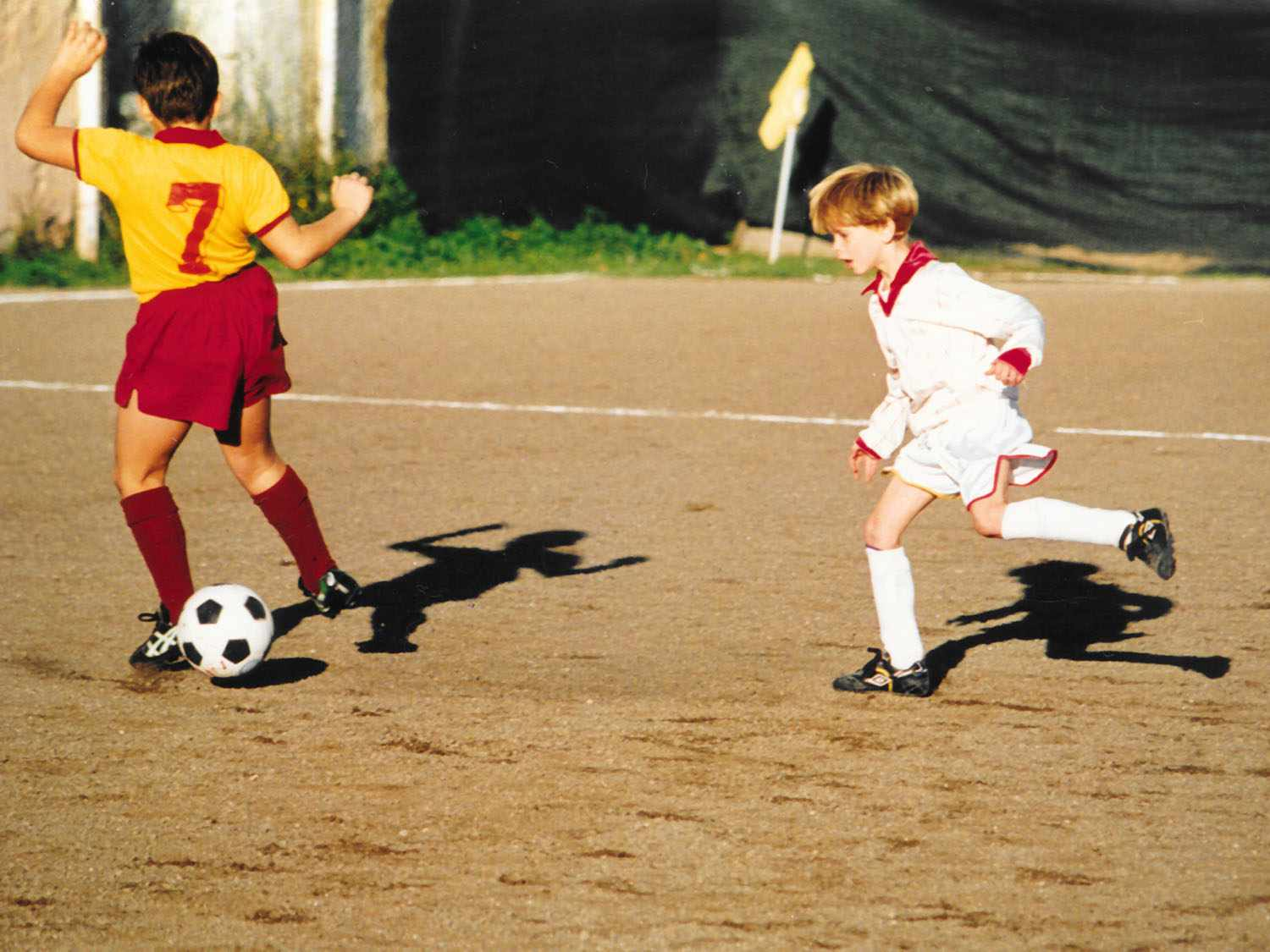 Sasha Marx playing soccer in Rome as a child.