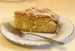 slice of almond olive oil cake