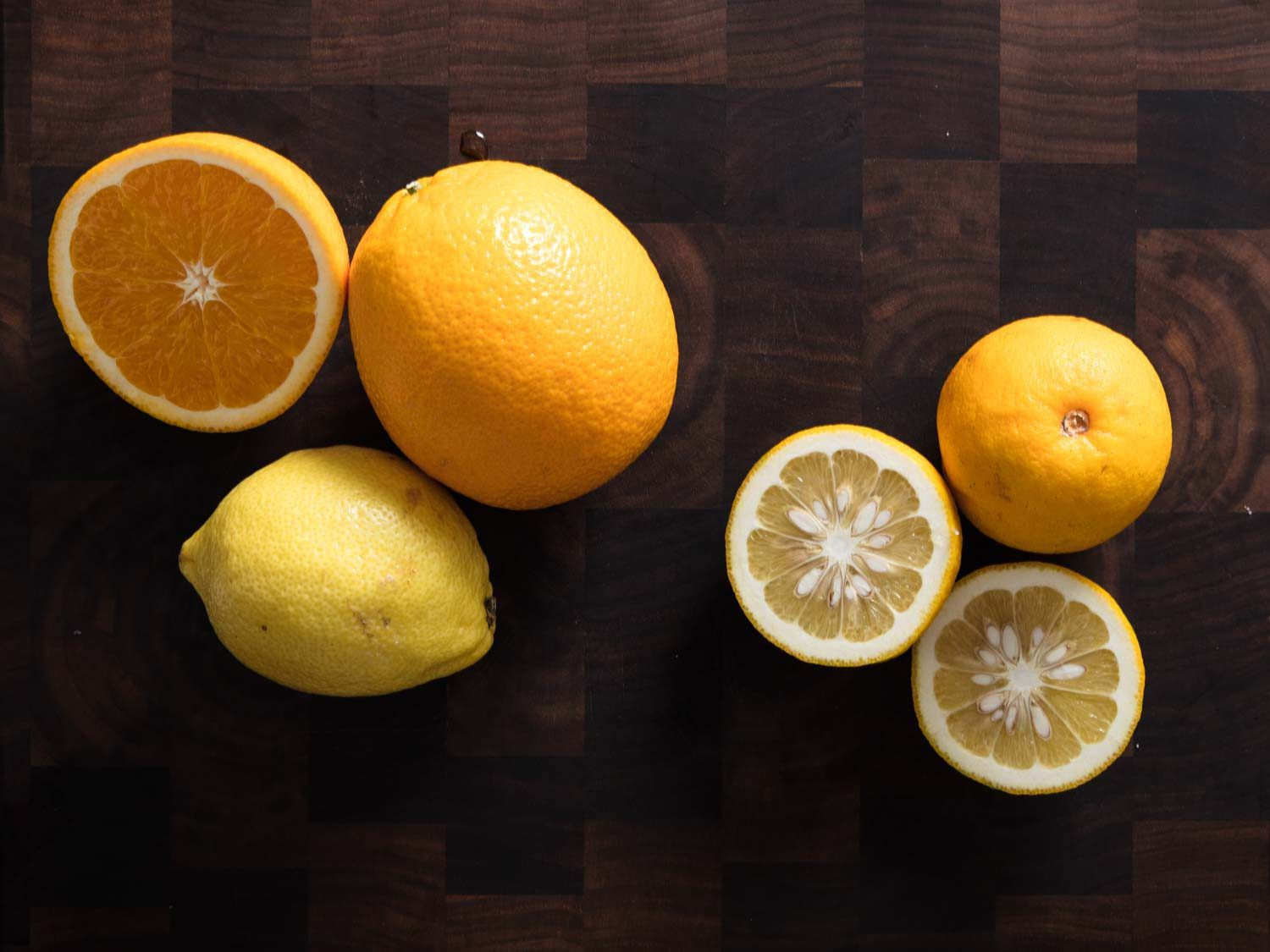 Comparing traditional bitter oranges to lemon-and-navel orange combination
