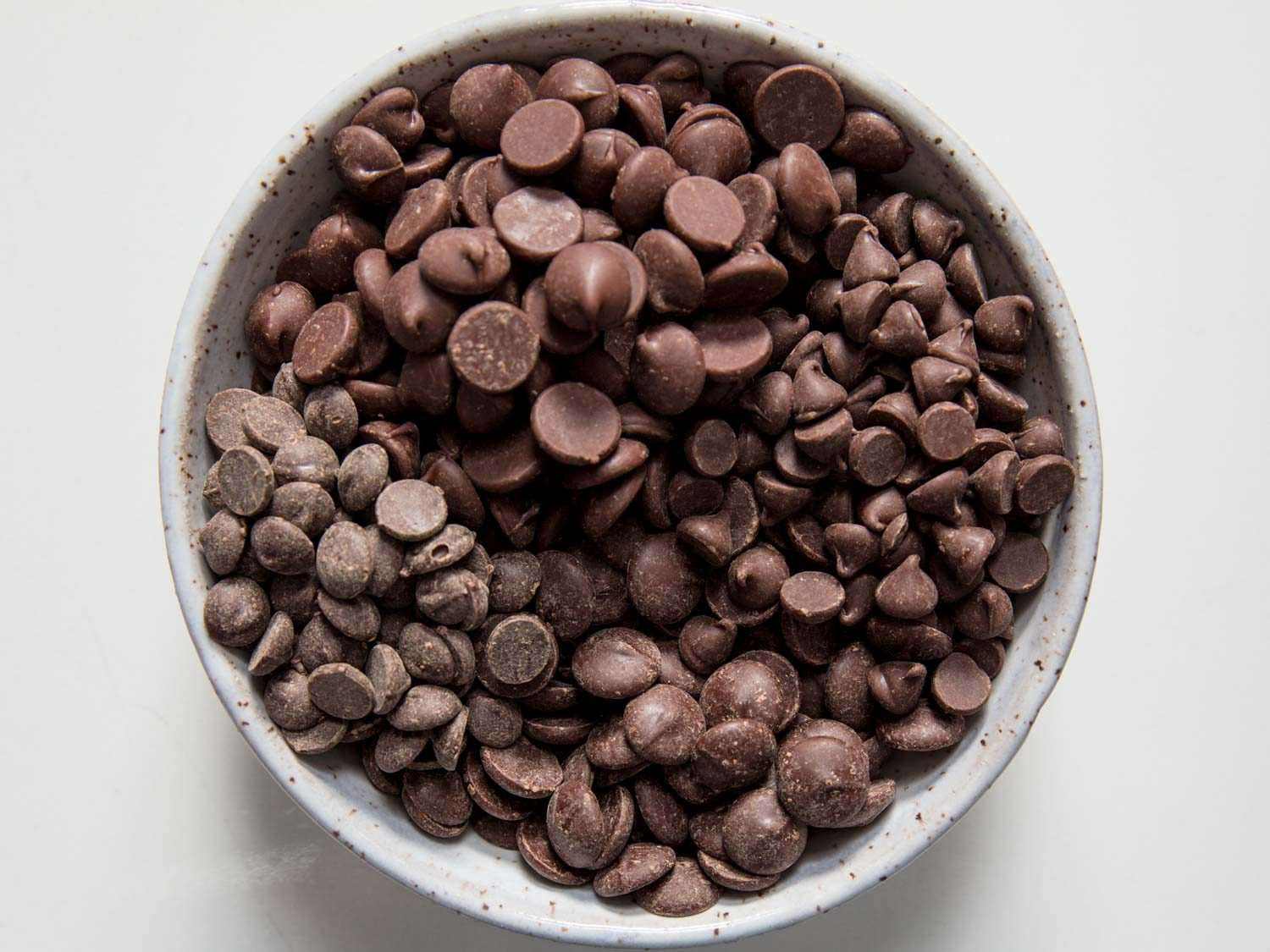 a blend of chocolate chips