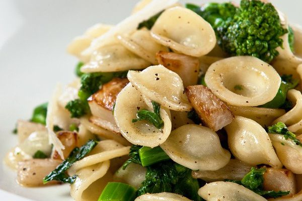 Orecchiette with Caramelized Turnips, Tuscan Kale, and Cracked Pepper