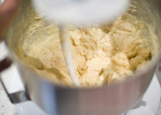 brioche dough in mixer