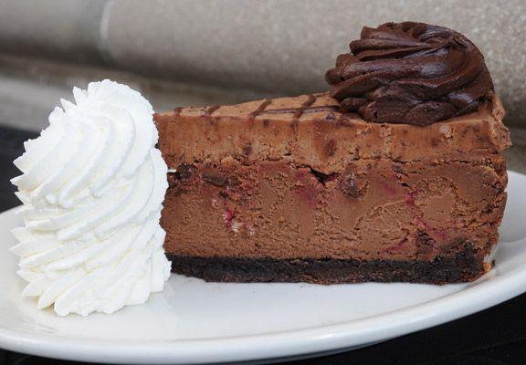 Chocolate Raspberry Truffle Cheesecake