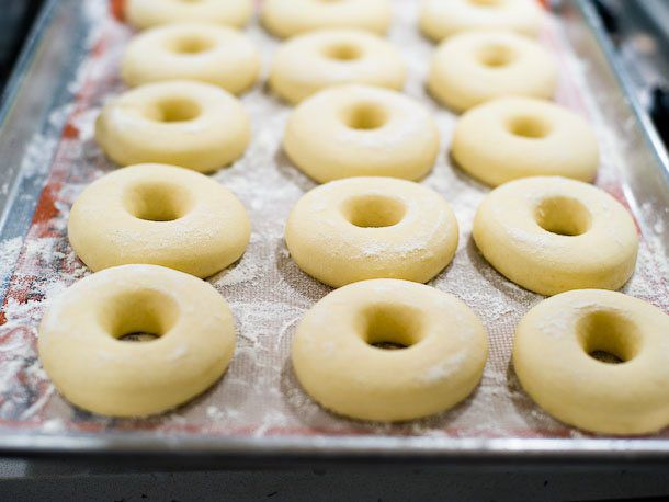 proofed doughnuts