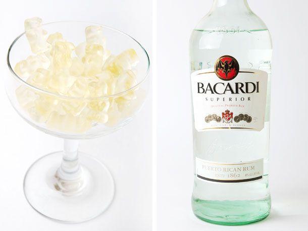 gummy bears and Bacardi